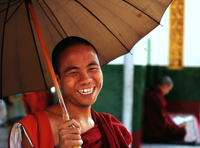 A Wonderful Burmese Monk Shares A Smile