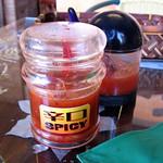 宜野湾市新城「Tetera」の「メキシカンランチ」 サルサソース二種 Salsa Sauce  Tetera