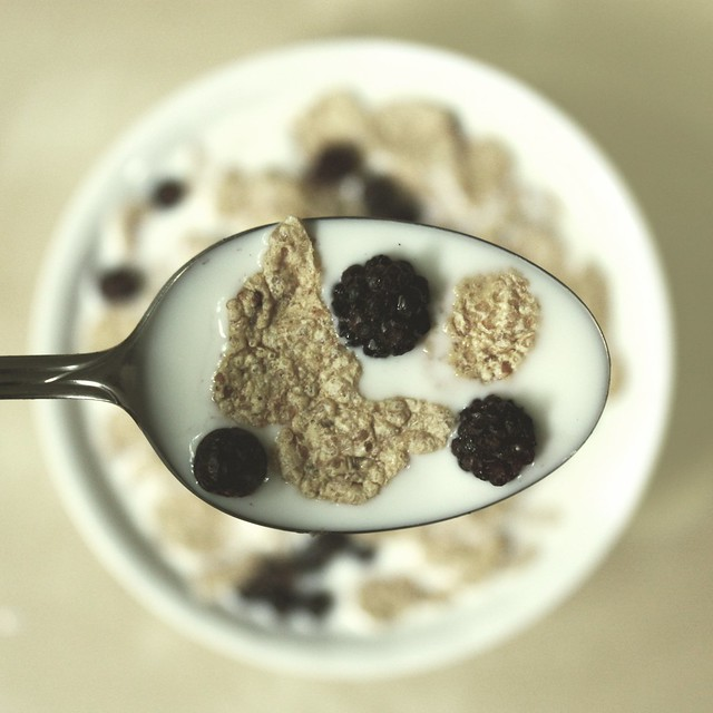 Flakes with Black Berrys