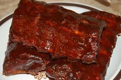 sirloin steak(0.0), chocolate brownie(0.0), venison(0.0), spare ribs(1.0), ribs(1.0), pork ribs(1.0), food(1.0), dish(1.0), cuisine(1.0), brisket(1.0),