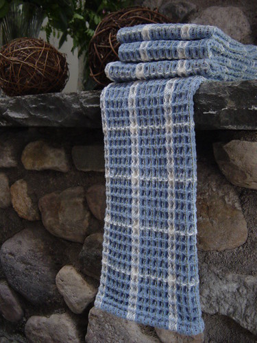 Country Blue Waffle Weave Towels