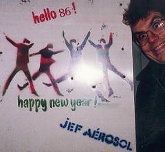 Jef Aérosol 1985-86 : vintage stencil !