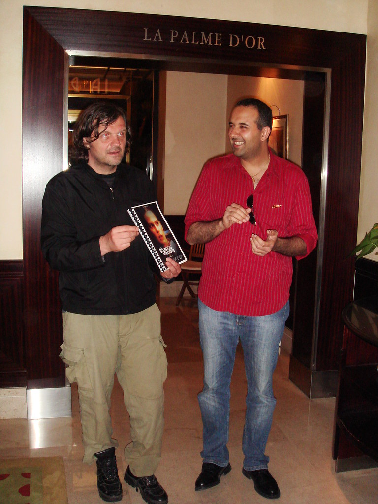 Emir Kusturica congratulates Farid DMS Debah