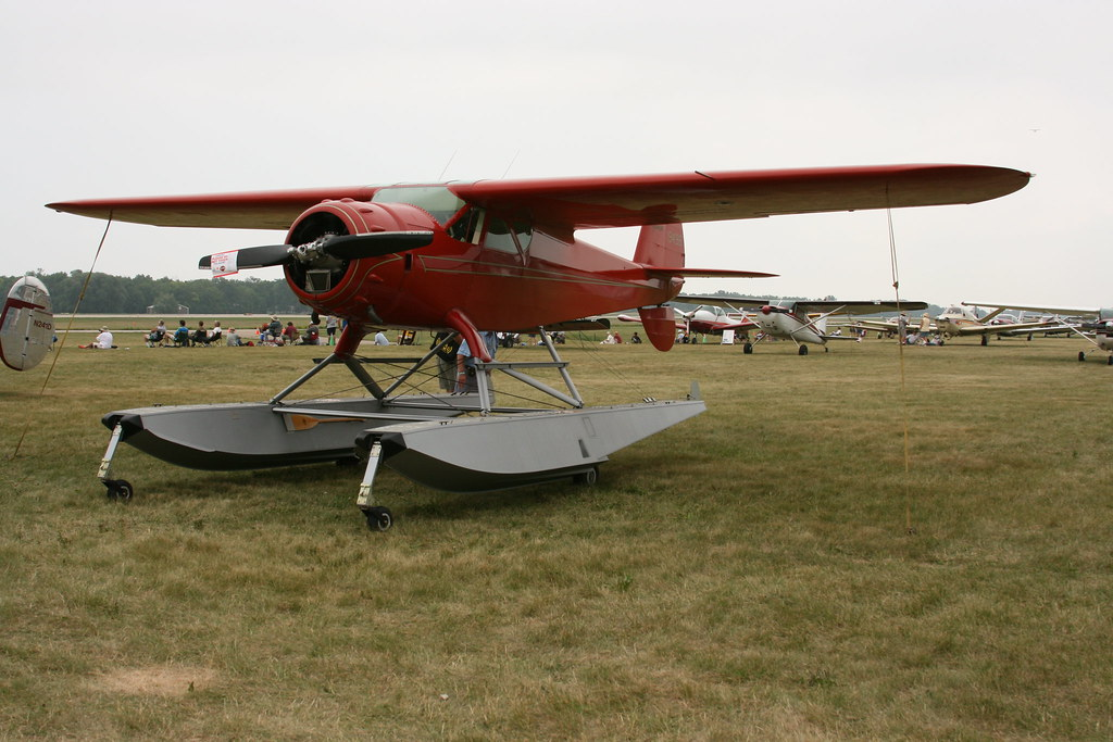 a pontoon plane from the Vintage area