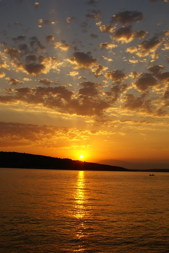 sunset croatia krk