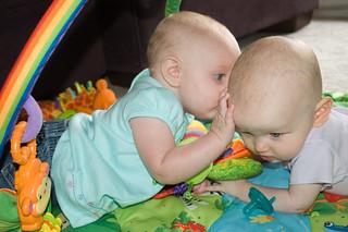 Babies Kissing