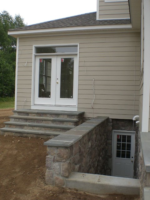 Outside basement entrance flickr photo sharing for Walkout basement door options