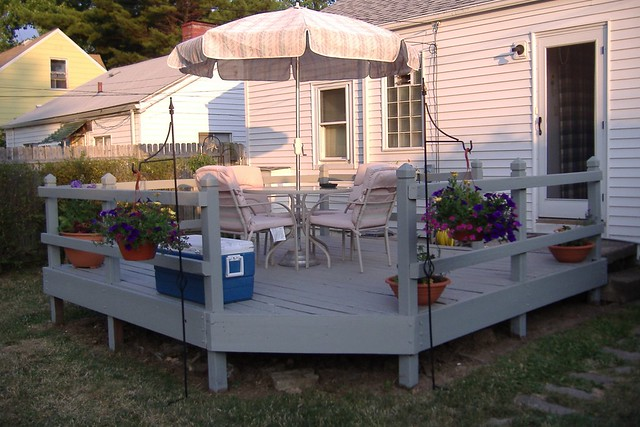 Deck/Concrete Mount Umbrella Base, Model B6 | PatioUmbrellaUSA.com