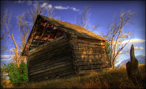 summer lake field landscape utah cabin farm shed