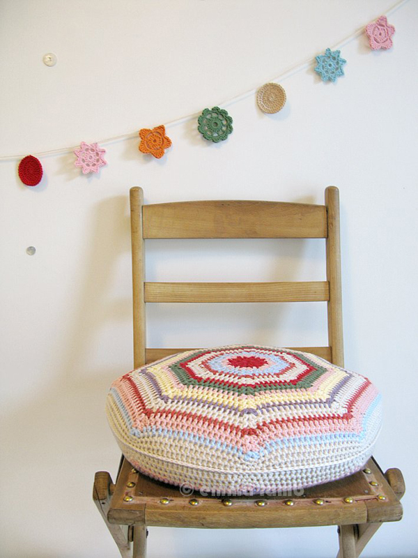 Molly, hand crochet cushion | Emma Lamb