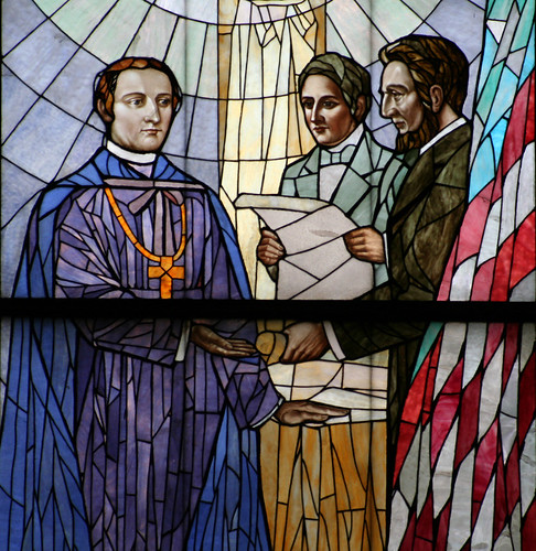 Abraham Lincoln Window - Detail