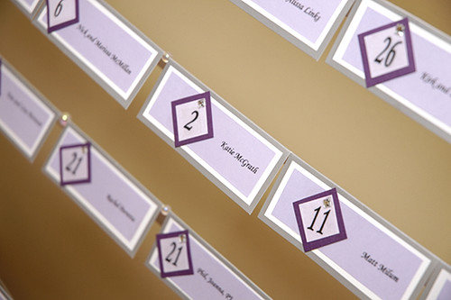 Whether you call 'em escort cards, name cards, or table cards, these cards have one thing in common: they will definitely keep your guests organized! They're a little way to show your creativity and personality in a form that everyone can take home.