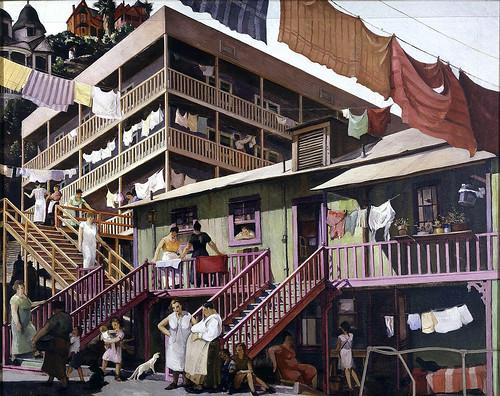 Millard Sheets: Tenement Flats, 1934