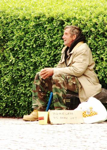 Homeless US Army Vet