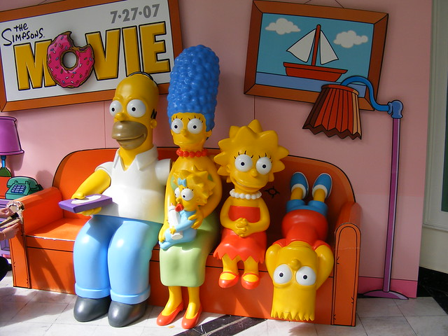 Simpsons in couch