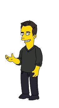 Frank Gruber as a Simpsons Cartoon