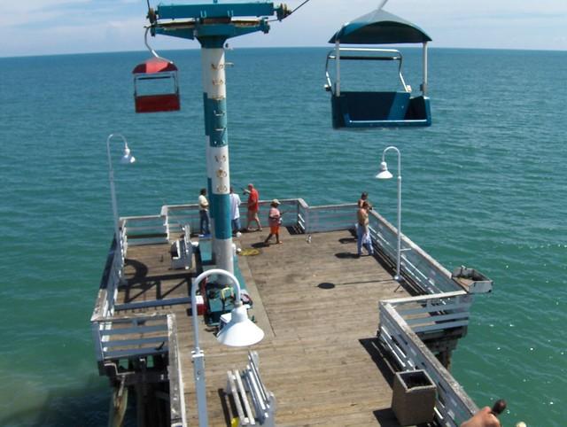 Riding on the daytona beach pier flickr photo sharing for Daytona beach fishing pier