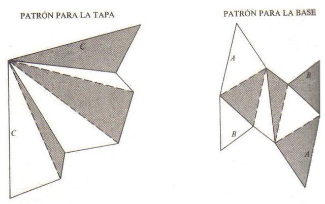 Plantillas para construir el poliedro de Császár