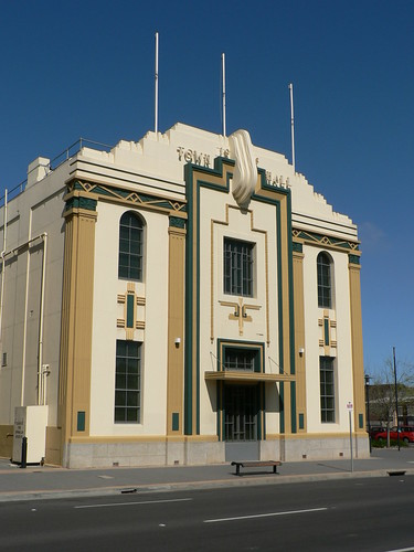 art deco buildings former hindmarsh town hall adelaide. Black Bedroom Furniture Sets. Home Design Ideas