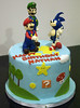 BC4107 - super mario birthday cake