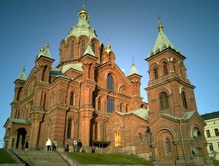 Billede af Uspenskijkatedralen i nærheden af Helsinki. finland helsinki cathedral