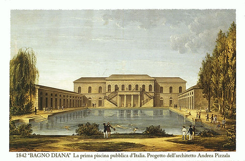 La prima piscina pubblica italiana milano 1842 the pollo web - Il bagno di diana klossowski ...