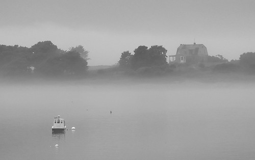 House Island in the Fog
