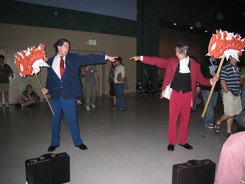 Two Phoenix Wright Cosplayers