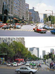 Antes y después - Avenida Juárez, ciudad de México