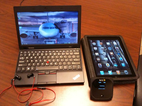 ThinkPad, iPad, Sprint Overdrive