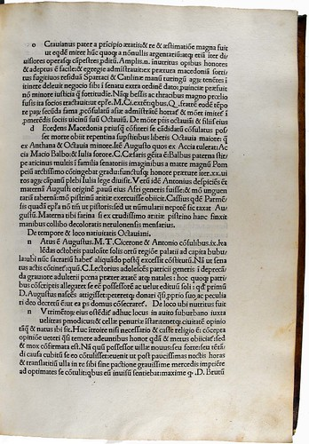 Page of text from Vitae XII Caesarum, Sp Coll Hunterian Bx.2.2.