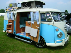 This is a campervan. Some people camp in these while traveling around countrysides!