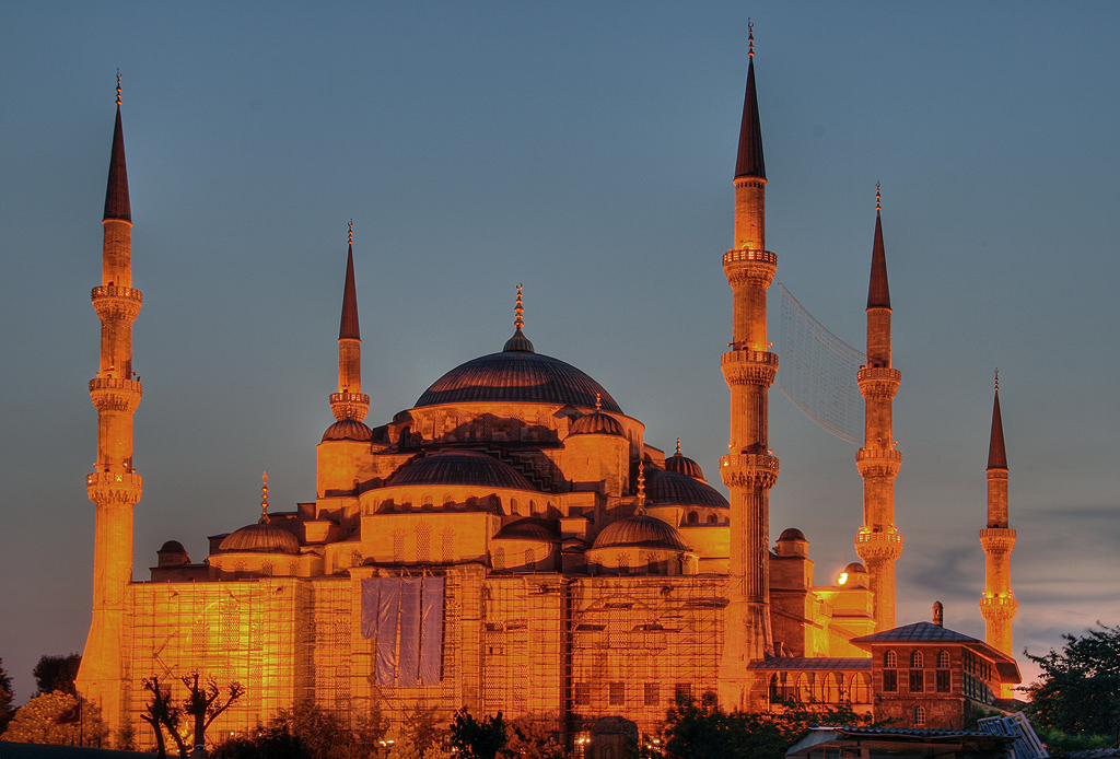 Blue Mosque, evening