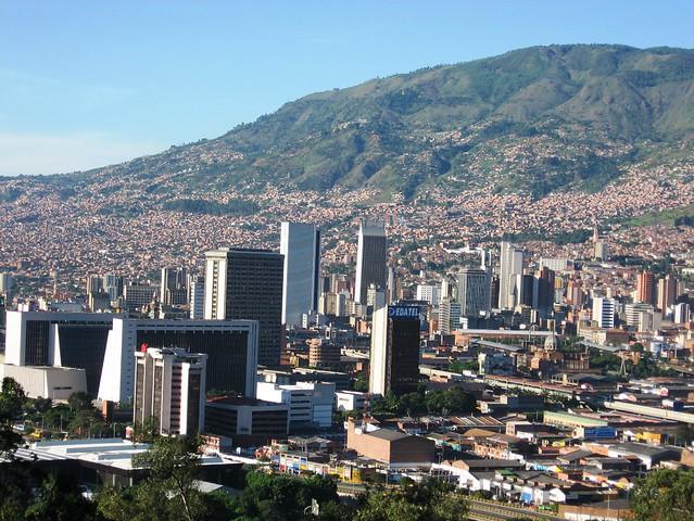 Panorámica del Centro de Medellín. Antioquia, Colombia