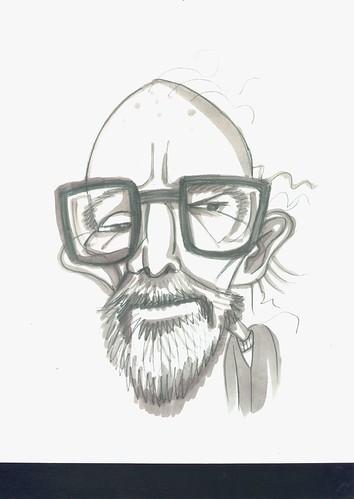 caricatura de Mircea Eliade
