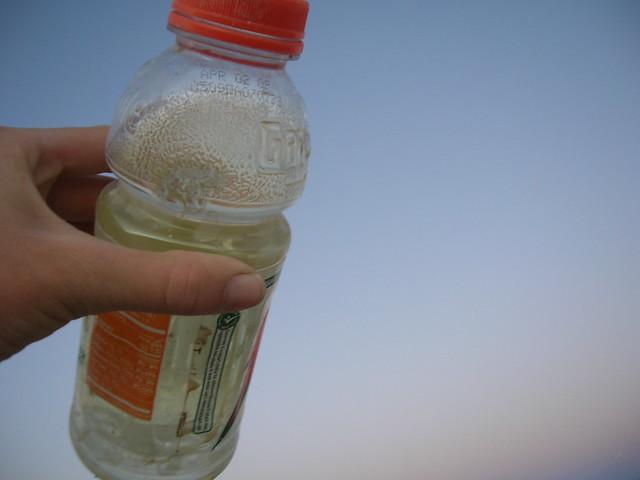 bottle of pee!