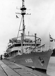 "Hollandsk fiskerioppsynsskip Zr.Ms. ""Luymes"" (A902) i Trondheim (1964)"
