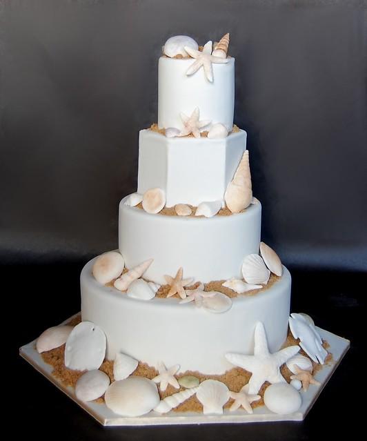 Sea Shells Fake Wedding Cake