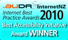 Internet Best Practice Award bubble by Aotearoa People's Network Kaharoa