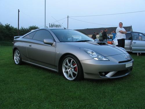 silver Toyota celica