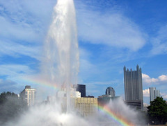 Fountain Rainbow in Pittsburgh