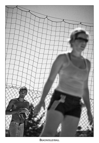 team mixed beachvolleyball serve tieschen