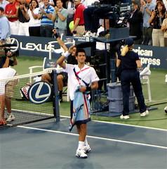 Novak Djokovic at the 2007 US Open