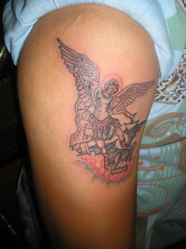 Tattoo Arcangel Miguel Tatuaje Realizado A Mano Alzada Con Flickr