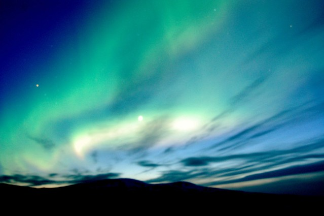 iceland highlands northern lights
