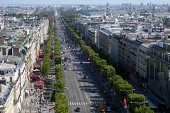 Paris - View of Avenue des Champs-Élysées from Arc de Triomphe de l'Étoile