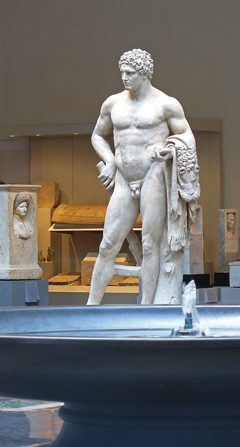 Marble Statue Of A Youthful Hercules Roman Flavian Period