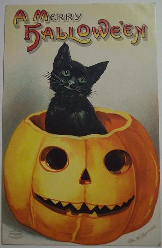 Vintage Halloween Postcard artist Ellen H Clapsaddle