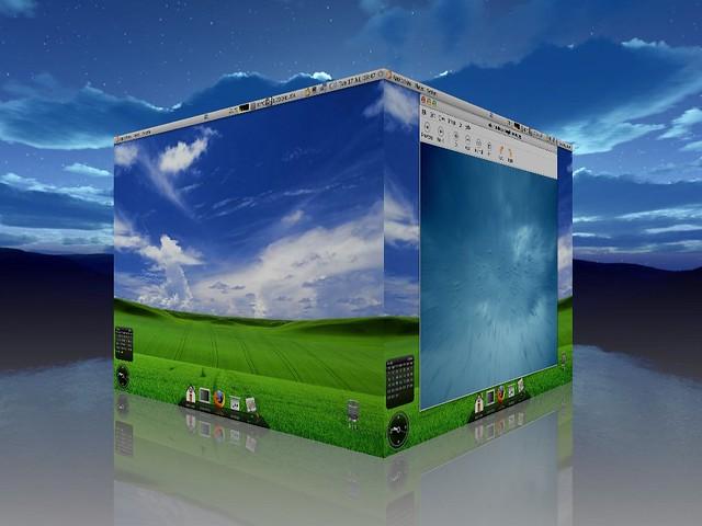 My Linux desktop, Ubuntu 7.04 (with compiz fusion)