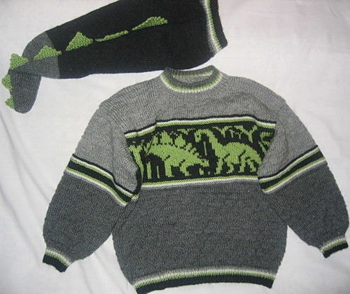 Knitting Pattern For Dinosaur Sweater : Knitted Dinosaur Sweater Flickr - Photo Sharing!